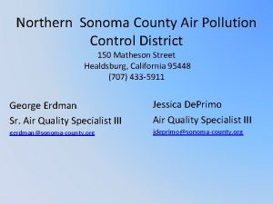 Northern Sonoma County Air Pollution Control District 150