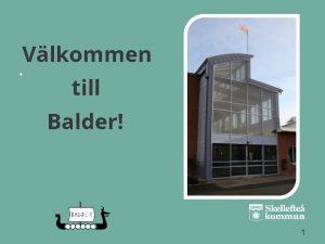 Vlkommen till Balder 1 Innehll Sidnummer 3 4