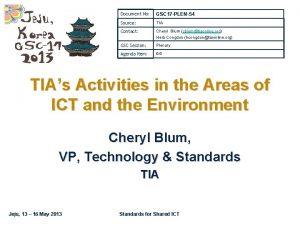 Document No GSC 17 PLEN54 Source TIA Contact