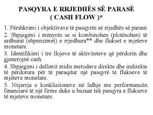 PASQYRA E RRJEDHS S PARAS CASH FLOW 1