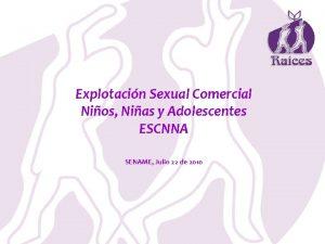 Explotacin Sexual Comercial Nios Nias y Adolescentes ESCNNA