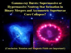 Gammaray Bursts Supermassive or Hypermassive Neutron Star formation