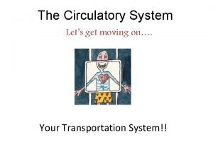 The Circulatory System Lets get moving on Your