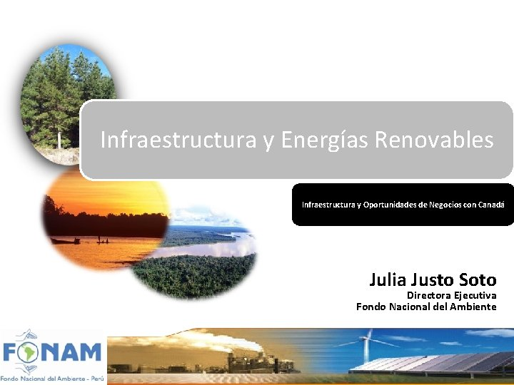 Infraestructura y Energas Renovables Infraestructura y Oportunidades de