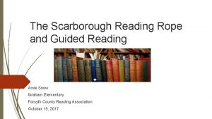 The Scarborough Reading Rope and Guided Reading Amie