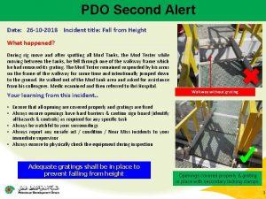PDO Second Alert Date 26 10 2018 Incident