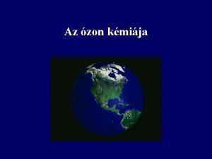Az zon kmija Az zon trtnete 1786 M