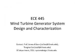 ECE 445 Wind Turbine Generator System Design and