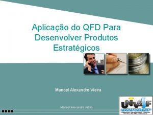 Aplicao do QFD Para Desenvolver Produtos Estratgicos Manoel