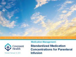 Medication Management Revised February 19 2014 Standardized Medication