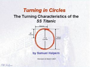 Turning in Circles The Turning Characteristics of the