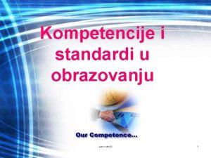 Kompetencije i standardi u obrazovanju 10282020 alen vukeli