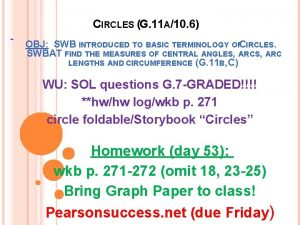 CIRCLES G 11 A10 6 OBJ SWB INTRODUCED