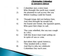 Christopher Columbus by Gertrude M Robinson 1 2