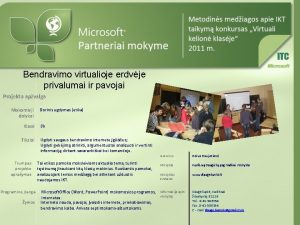 Bendravimo virtualioje erdvje privalumai ir pavojai Projekto apvalga