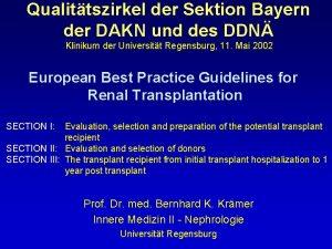 Qualittszirkel der Sektion Bayern der DAKN und des