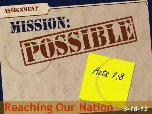 Reaching Our Nation 3 18 12 I SERVEASENIOR