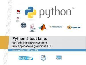 Python tout faire de ladministration systme aux applications