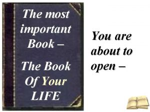 The most important Book The Book Of Your