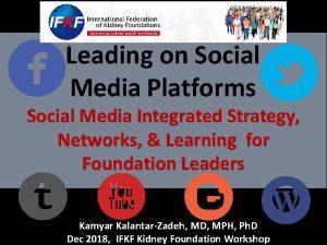 Leading on Social Media Platforms Social Media Integrated