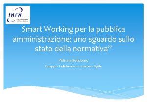 Smart Working per la pubblica amministrazione uno sguardo