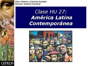 rea Historia y Ciencias Sociales Seccin Historia Universal