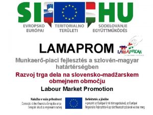 LAMAPROM Munkaerpiaci fejleszts a szlovnmagyar hatrtrsgben Razvoj trga