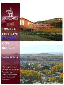 Draft 2014 Draft Budget Presentation 0 Agenda Introduction
