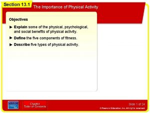 Section 13 1 The Importance of Physical Activity