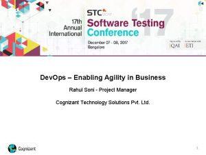Dev Ops Enabling Agility in Business Rahul Soni