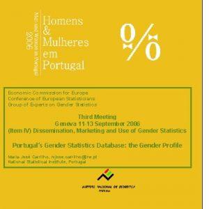Portugals Gender Statistics Database the Gender Profile Economic