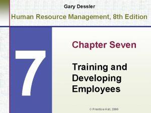 Gary Dessler Human Resource Management 8 th Edition