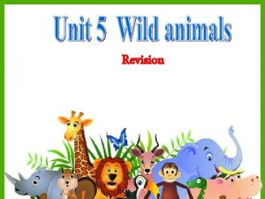 Revision the Wild Animals Club A What wild