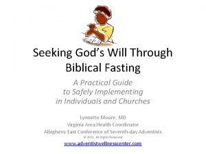 Seeking Gods Will Through Biblical Fasting A Practical
