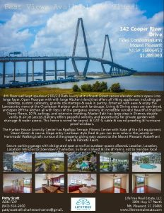 Best Views Available At Tides 142 Cooper River