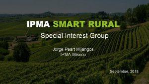 Special Interest Group Jorge Peart Mijangos IPMA Mxico