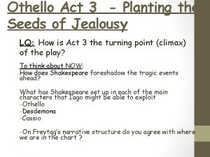 Othello Act 3 Planting the Seeds of Jealousy