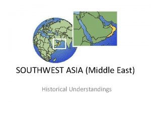 SOUTHWEST ASIA Middle East Historical Understandings SS 7