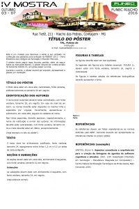 TTULO DO PSTER TAL Fulano de Instituio email