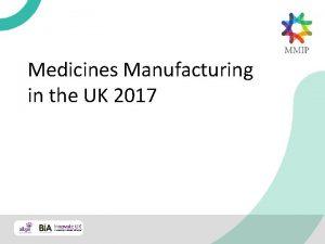 Medicines Manufacturing in the UK 2017 Medicines Manufacturing