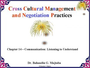 Cross Cultural Management and Negotiation Practices Chapter 14