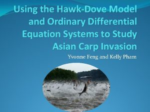 Using the HawkDove Model and Ordinary Differential Equation