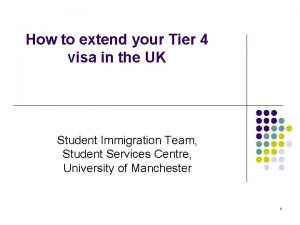 How to extend your Tier 4 visa in