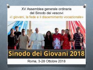 XV Assemblea generale ordinaria del Sinodo dei vescovi