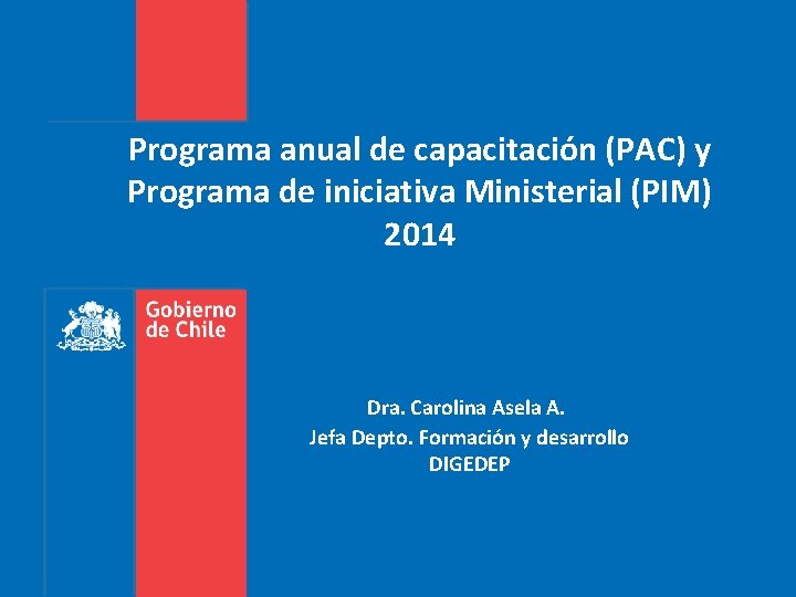Programa anual de capacitacin PAC y Programa de