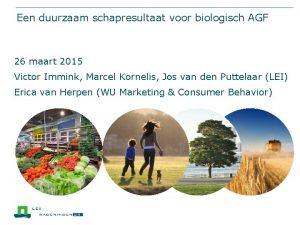 Een duurzaam schapresultaat voor biologisch AGF 26 maart
