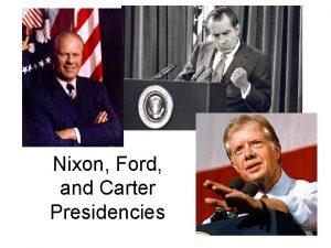 Nixon Ford and Carter Presidencies KennedyNixon Debates Televised