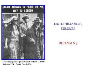 LINTERPRETAZIONE DEI SOGNI DISPENSA N 4 Marie Bonaparte