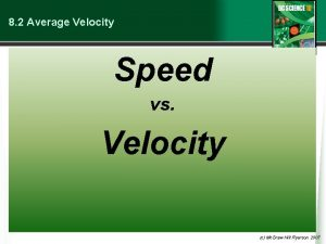 8 2 Average Velocity Speed vs Velocity c