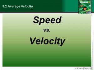 8 2 Average Velocity Speed vs Velocity c